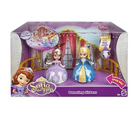 Disney Sofia The First Dancing Sisters 2-Pack, Blue/Purple