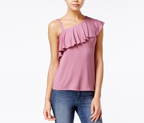 Almost Famous Juniors' Ruffled One-Shoulder Top, Lilias