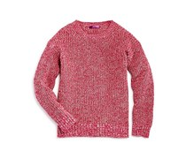 Kids Girls Marl Knit Sweater, Pink