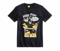 Lego Boys Batman Graphic-Print T-Shirt, Black