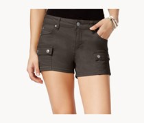 Celebrity Pink Juniors Denim Cargo Shorts, Dark Roast