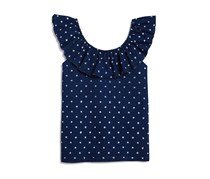 Splendid Girls' Peasant Top, Indigo