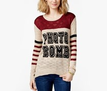 Rebellious One Juniors' Photo Bomb Pullover Sweater