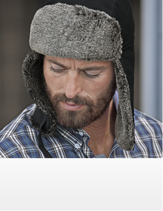Mens Faux Fur Cap