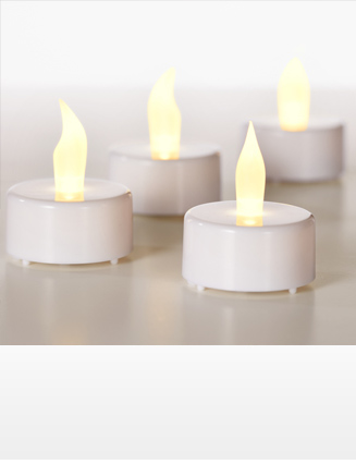 Tea Lights, LED, set of 4