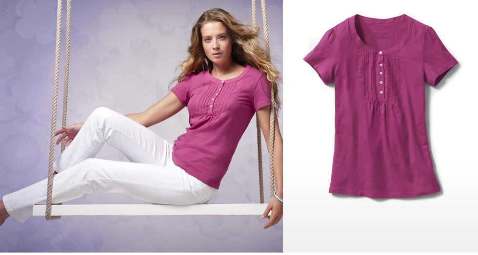 Women's Shirt, Short Sleeve Berry