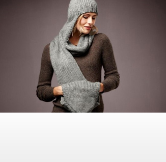 Womens knitted scarf